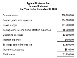 How To Read An Income Statement Dummies