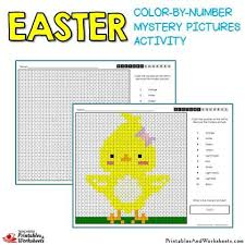 I've got a whole bunch of color by number worksheets (and a your kids might also enjoy this preschool printable pack as it has all kinds of fun activities. Easter Color By Number Mystery Pictures Activities Printables Worksheets