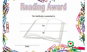 Reading Award Certificate Templates Word | Biya Templates