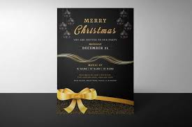 Holiday Flyer Template Word Christmas Party Flyer Template Christmas Invitation Holiday