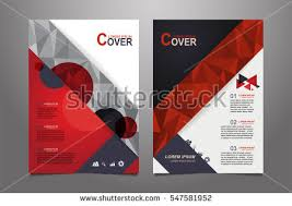 red and gray vector annual report leaflet brochure flyer template design book cover layout design