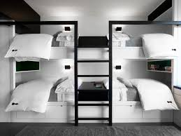 Monochrome Color - Black White - Kids Bedroom - Modern Furniture - Bunk Beds