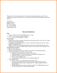 Resume Guidelines Resume Guidelines Therpgmovie 6