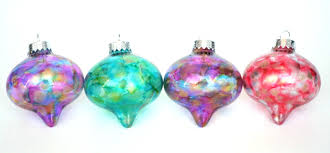 homemade water color alcohol ink ornaments handmade ornaments no 14 bystephanielynn