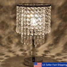 crystal chandelier modern table lamp e27 pendant fixture home bedroom desk light