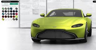 2018 Aston Martin Vantage Official Configurator Gifs Q Palette Neons Latest News Car Revs Daily Com