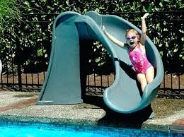 homemade above ground pool slide. Pool Slide Close Homemade For Above Ground . G