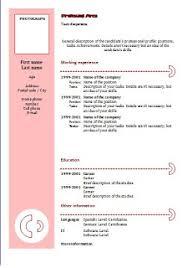 Type Of Resume
