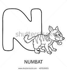 Small Picture Cute Children Zoo Alphabet N Letter Stock Vector 453607924