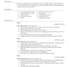 Babysitter Resume Sample Babysitter Resume Template Builder