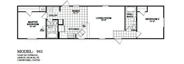 double wide floor plans 2 bedroom. model-941-14x60-2bedroom-2bath-oak-creek-mobile- double wide floor plans 2 bedroom
