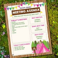 Kaper Charts For Girl Scouts Template Boy And Girl Scout Meeting Agenda Kaper Chart Merit Badges