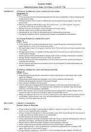 Internal Communication Resume Samples Velvet Jobs