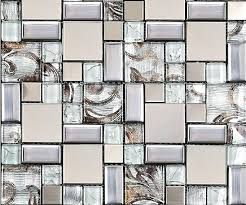 glass mosaic tiles glass mosaic tile silver metal mosaic stainless steel mosaic tiles sheet stainless steel