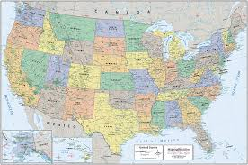 United States Map Of The World Classic Political Usa Map