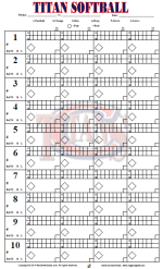 Softball Pitching Chart Template Gamegrade Charts
