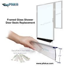 framed shower door seals glass shower