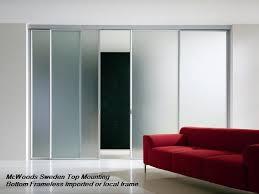 og imported aluminum frame sliding with frosted 6mm glass