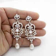 chandelier bridal earrings view larger