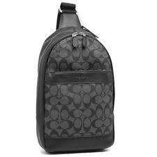 Coach F54787 CQ BQ Charles Black Pack Signature PVC Backpack Leather NEW