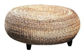 round wicker table light brown round wicker rattan ottoman coffee table with dark brown laminate hardwood round wicker table