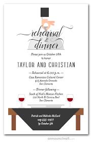 Dinner Invation Waiter Wine Black Table Rehearsal Dinner Invitations