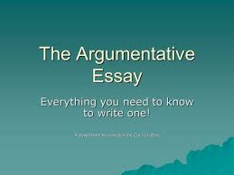 steps in writing an essay ppt video online  the argumentative essay everything you need to know to write one a powerpoint presentation by