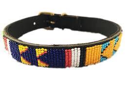 maasai beaded dog collars