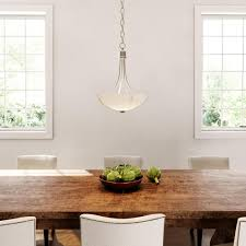 Progress Lighting Rep Progress Lighting Gather 15 In 2 Light Brushed Nickel Foyer Pendant With Etched Glass