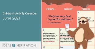 Download your free 2021 printable calendar. Children S Programming Activity Calendar June 2021