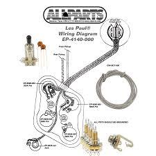 wiring kit for les paul allparts com les paul schematic les paul pot wiring