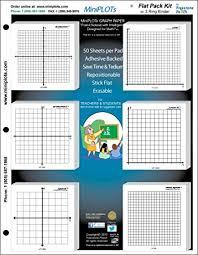 Amazon Com Miniplot Algebra Graphing Kit Six 3x3 Inch Sticky