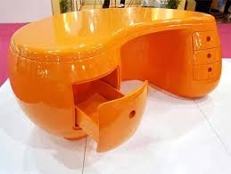 unique office furniture. furniture mesmerizing orange desk made from plastic design ideas picture a part of unique office f