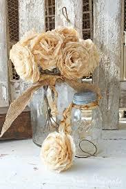 Wedding Paper Flower Centerpieces Diy Vintage Wedding Centerpieces Aged Paper Roses Wedding Paper