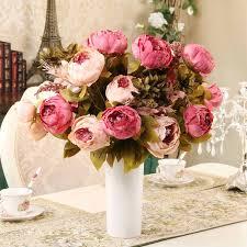 <b>13 heads</b>/<b>Bouquet</b> Elegant Artificial Peony Silk Flowers home ...