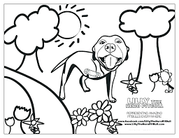 Realistic Pitbull Coloring Pages At Getcoloringscom Free