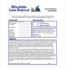 19+ Snow Plowing Contract Templates - Doc, Pdf | Free & Premium ...