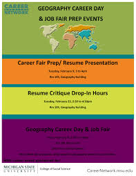 Career Day Job Fair Resume Presentation Msu Department Of