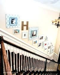 picture frames on staircase wall. Art For Staircase Wall Stairway Creative Decorating Ideas Frames Stairs Picture On L