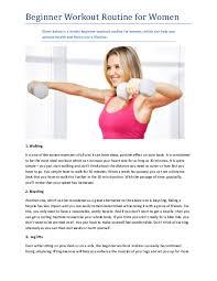 Pdf Beginner Workout Routine For Women Zaheer Khan