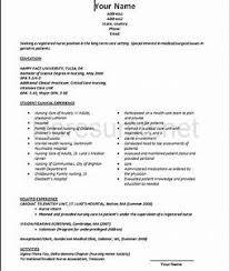 New Grad Nursing Resume Template Pointrobertsvacationrentals Com