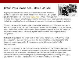 focus on ged® test content reasoning through language arts  british pass stamp act 22 1765