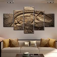large picture wall art living room decor dinosaur fossil abstract large abstract canvas art