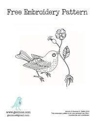 bird embroidery pattern {free!} by loraine   Bird embroidery pattern, Bird  embroidery, Embroidery patterns free