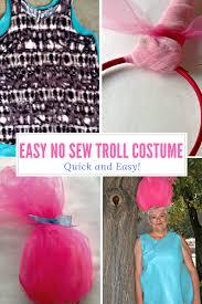 easy no sew treasure troll costume