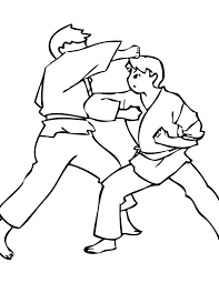Small Picture Karate Coloring Page Handipoints