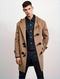 david trulik layers with zara man s denim essentials and camel dufflecoat