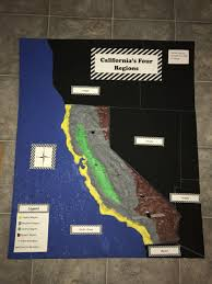 California Regions Fourth Grade Relief Project Californias Four Regions