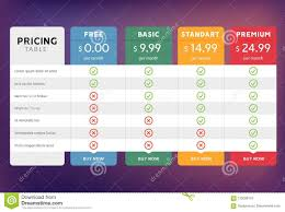 Plan Comparison Chart Pricing Table Design For Business Price Plan Web Hosting Or