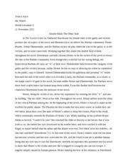 scarlet letter the custom house notes the custom house part i  5 pages the scarlet letter essay